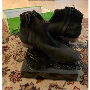 Sam Edelman Black double sided zip booties